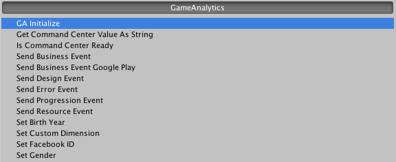 Unity SDK Documentation - GameAnalytics